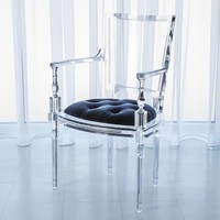 Global Views Marilyn Acrylic Arm Chair-Admiral Blue