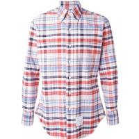 Indie Designs Thom Browne Inspired Multicolour Cotton Checked Shirt
