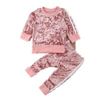 Toddler Kids Baby Girl Infant Clothes T-shirt Top Pants Outfit Sets Tracksuit 1-5T Fall Winter Autumn Spring Children Cloth