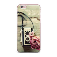 """Cristina Mitchell """"I Have But Two Loves"""" Pink Tan iPhone Case"""