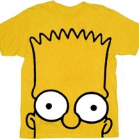 The Simpsons Bart Big Face Gold T-shirt - The Simpsons - | TV Store Online