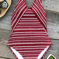 Cupshe Facing Sun Stripe One-piece Swimsuit