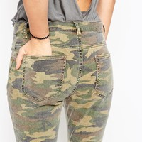ASOS Skinny Trousers in Camo Print