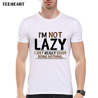 Letter Print Humorous T shirt Men Casual Tops Tees Summer Clothes