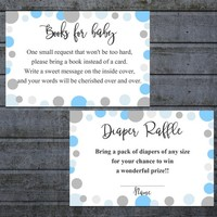 Bring a Book Instead of a Card | Book Request | Diaper Raffle Ticket Printable Boy | Baby Shower Invitation Inserts | Instant Download (l21)