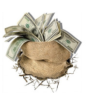 3D Gunny Bag Money Wall Decals Wall Art Stickers 23 Inch Removable Home Decor