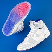 Nike Air Jordan 1 Mid AJ1 New Couple Style Mesh Casual Sneakers