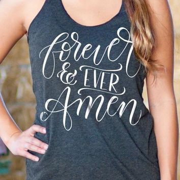 Forever and Ever Amen | Essential Racerback Tank