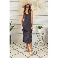 Every Day Fun Tank Dress : Charcoal