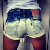 Urban Eclectics — Distressed Bleached Studded Shorts