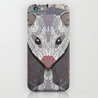 Ornate Opossum iPhone & iPod Case by ArtLovePassion
