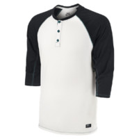 Nike SB Dri-FIT 3/4-Sleeve Speckle Henley Men's Shirt