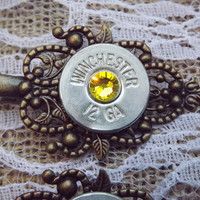 bullet jewelry, bullet hair clip, bullet hair pin, camo hair pin , bullet bobby pin, shotgun jewelry, gun accessories, cowgirl