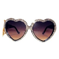 24karat Gold Swarovski® Heart Sunnies