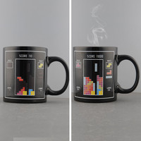 Tetris Game Heat Sensitive Color Change Mug
