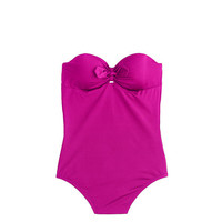J.Crew Womens D-Cup Jersey Lomellina Tie-Front Underwire One-Piece Swimsuit