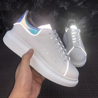 Alexander McQueen Blue Web Reflective Sneakers - Best Online Sale