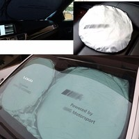 150cm*70cm AMG Auto Front Rear Window Sun Shade Car Windshield Visor Cover Block Sunshade Foldable cover Fit For Mercedes Ben