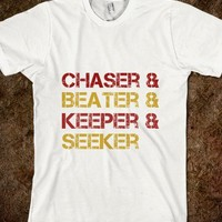 Chaser & Beater & Keeper & Seeker Gryffindor Colors