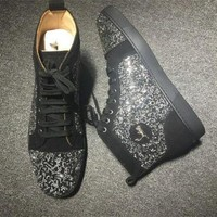 DCCK2 Cl Christian Louboutin Rhinestone Style #2102 Sneakers Fashion Shoes