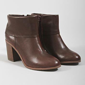 band bootie - oxblood