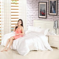 High Quality - Silk Feel Satin Solid Color Bedding Sets