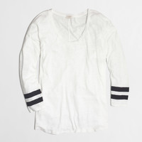 Factory varsity-stripe swing tee : long sleeve | J.Crew Factory