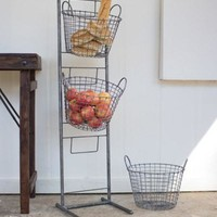 3 Tiered Wire Basket Display