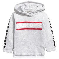 H&M Printed Hooded Sweatshirt $24.99