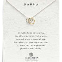 Women's Dogeared 'Karma' Circle Pendant Necklace - Silver (Nordstrom Exclusive)