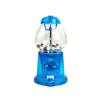 Carousel Gumball Machine, 1985 - Blue Translucent Bank Base, Glass Globe - Ford Gum & Machine Co. - Vintage Home Decor, Toy Collectible