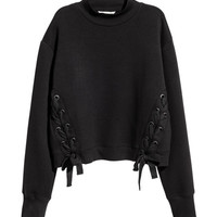 Sweatshirt with Lacing - from H&M