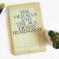 """Vintage """"The Old Man and the Sea"""" Novel by Ernest Hemingway with Dust Jacket, 1970s"""