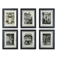 Uttermost 33430 Paris Scene by Grace Feyock: 18 5/8 x 23 5/8 Print Reproduction, Set of Six