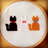 Disney Aristocats Kittens Simple Complete Cross Stitch