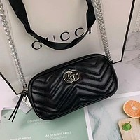 GG classic mini long bag with textured leather texture Hot selling fashion ladies shoulder messenger bag