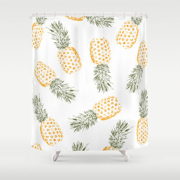 Pineapple Shower Curtain by Rui Faria