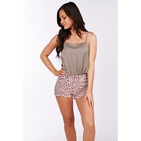 Together For Now Tie Strap Bodysuit (Stone)