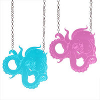 Octopus Necklace - £15.00 : Sugar & Vice, Laser cut Jewellery, Custom Accessories and Personalised necklaces