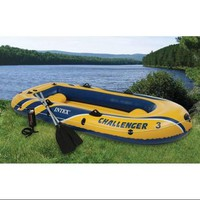 INTEX Challenger 3 Inflatable Boat Set with Pump & Oars | 68370EP - Walmart.com