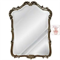 Country French Shell & Scroll Hand Finished Beveled Entryway / Wall Mirror