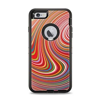 The Vibrant Colorful Swirls Apple iPhone 6 Plus Otterbox Defender Case Skin Set