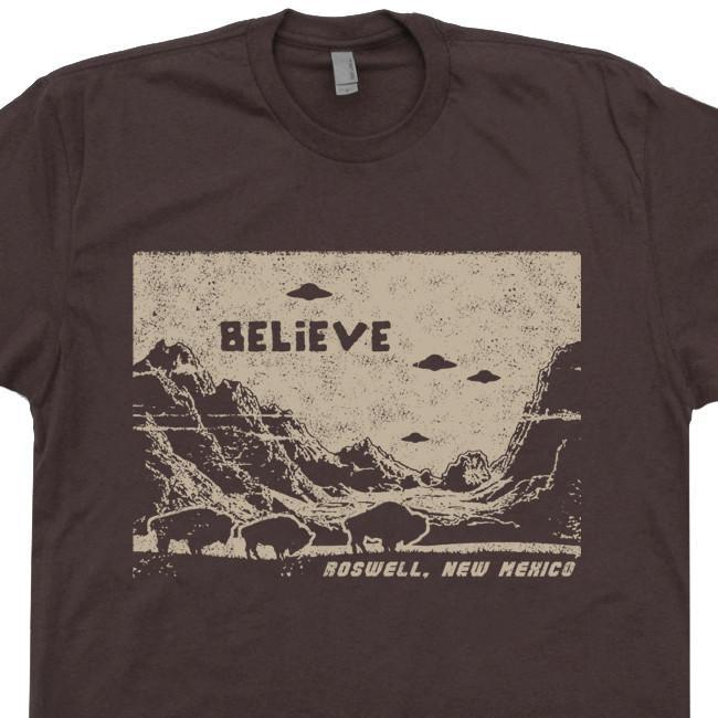 Image of UFO T Shirt Ufo Shirt Flying Saucer Shirt Roswell New Mexico Shirt Area 51 T Shirt