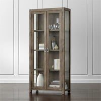 Morris Ash Grey Reclaimed Wood Bookcase