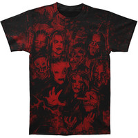 Slipknot Men's  The 9 Thorns Allover T-shirt Black