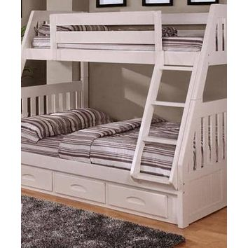 Julia White Twin over Full Bunk Bed