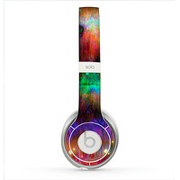 The Neon Paint Mixtured Surface Skin for the Beats by Dre Solo 2 Headphones
