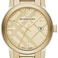 Burberry Unisex Swiss Gold Ion-Plated Stainless Steel Bracelet Watch 38mm BU9038