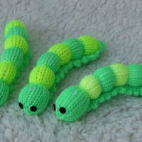Hand-knitted toy Caterpillar
