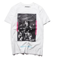 Cheap Women's and men's OFF WHITE t shirt for sale 501965868-004